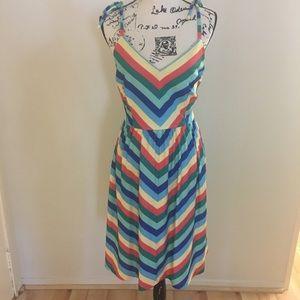 ModCloth Striped Retro dress